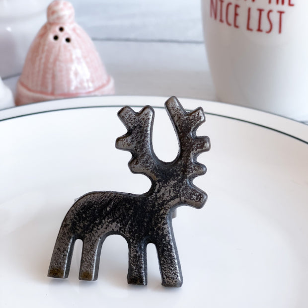 Metal Reindeer Napkin Rings, Set of 4