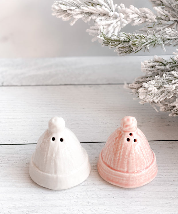 Winter Hat Salt + Pepper Shakers