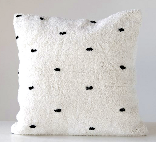 Sophie Tufted Dot Pillow, 24""