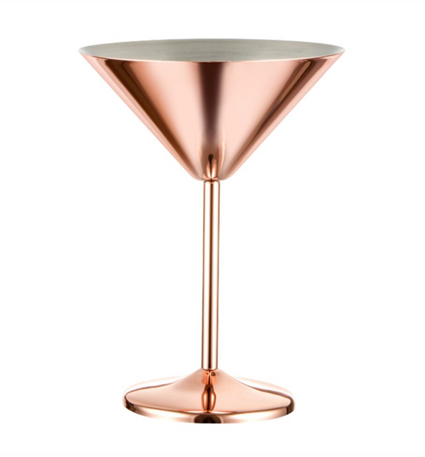 Rose Gold Martini Glass