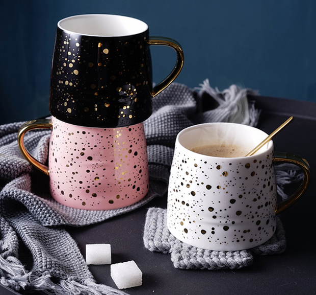 Evelyn Gold Splatter Mug