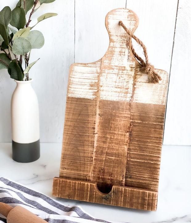 Two-tone Wood Cookbook Stand