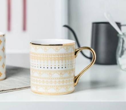 White + Gold Sweater Mug
