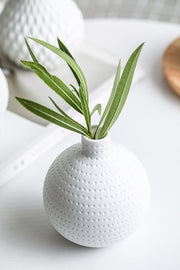 White Teardrop Vases
