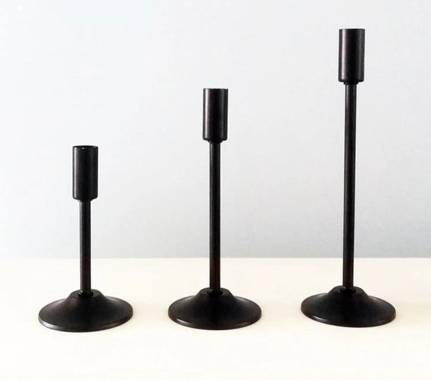 Matte Black Candlesticks