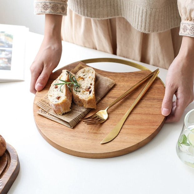 Wood + Gold Bread Board