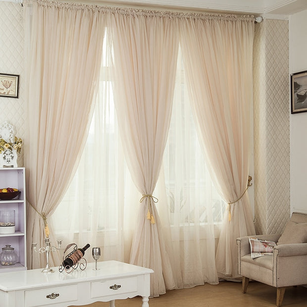 Champagne Voile Curtain