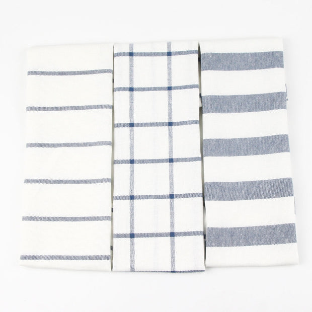 Striped and Checked Table Napkins (Set of 4)
