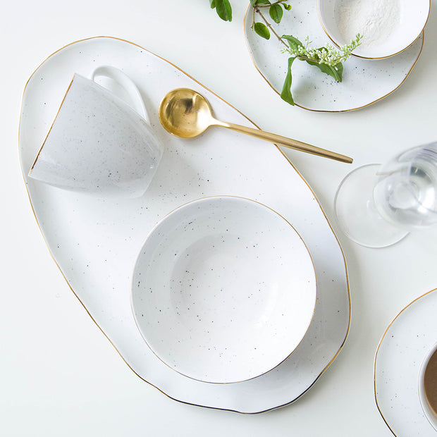 Celeste Glazed Dish Collection, Pearl