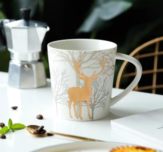 Golden Reindeer Mug