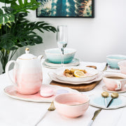Celeste Glazed Dish Collection, Bella Pink
