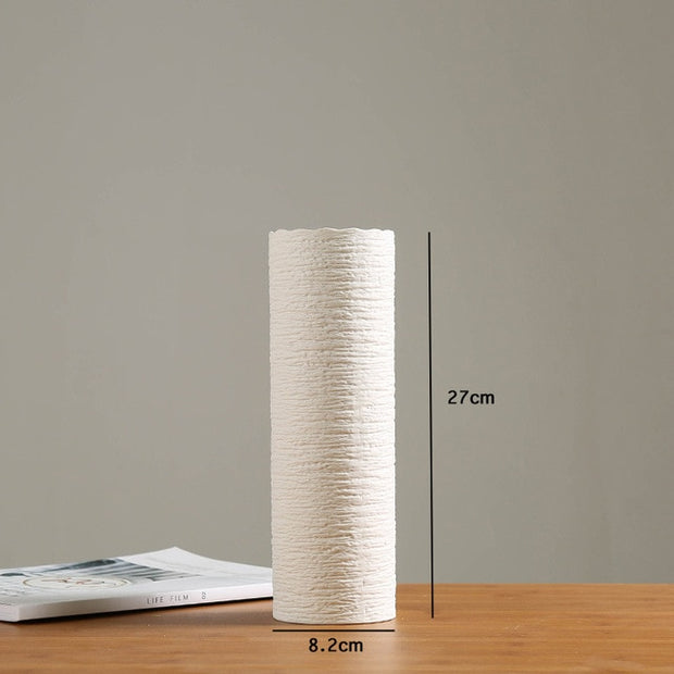 Daliah Textured Cream Vase Collection