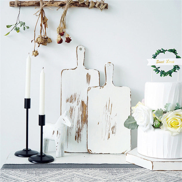 Olive Distressed White Bread Boards