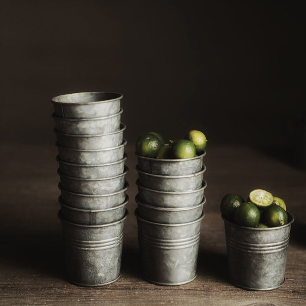 Apollo Distressed Metal Mini Cups