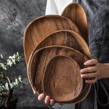 Load image into Gallery viewer, Organic Shaped Farmhouse Wood Plates