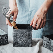 Apollo Distressed Metal Utensil Holder
