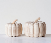 Decorative Wood Pumpkins