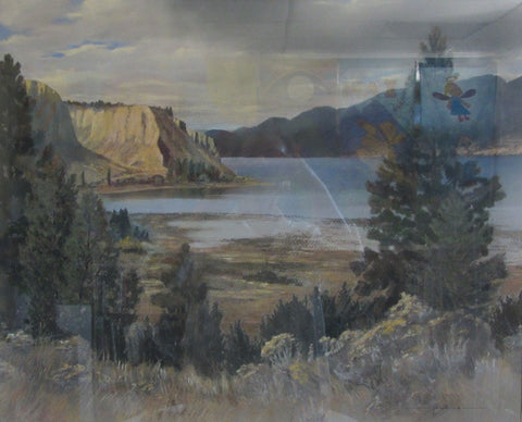 Afternoon Shower, pastel by Irvine Clinton Adams