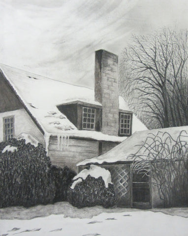 Winter, charcoal by Susan Gibbs