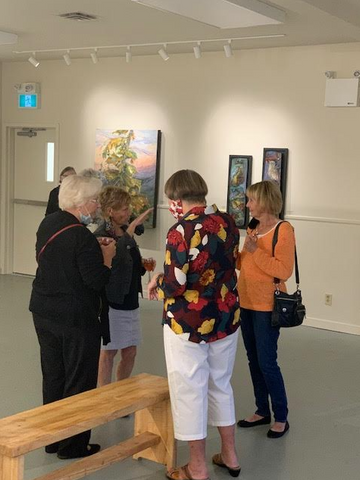 Madelyn Hamilton gallery opening
