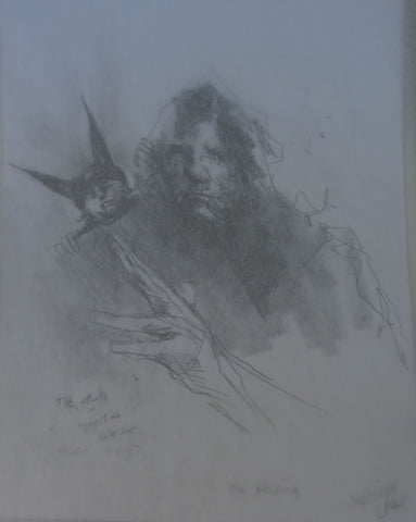 The Blessing, pencil sketch by Michael Hermesh