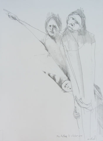 The Future is Closer Now, pencil sketch by Michael Hermesh