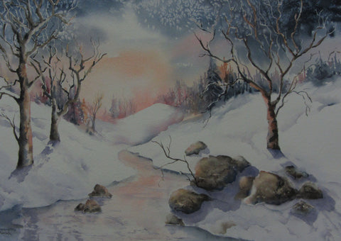 The Warmth of Winter, acrylic by Dianne Korsch