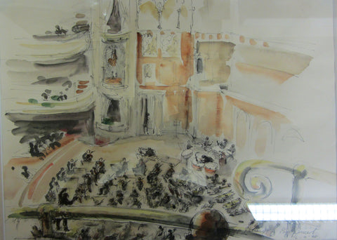 Top Gallery Concert, ink and wash by Bettina Somers