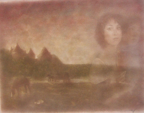 Just Passing Through, oil printing by Frantisek Strouhal