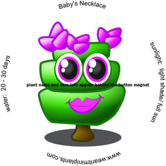 Baby's Necklace Caricature Magnet - WearItMiniPlants