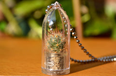 Shining Knight Cactus Plant Necklace - WearItMiniPlants  - 1