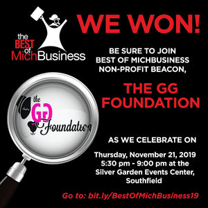 GG's Foundation is a 2019 MichBusiness Award Winner