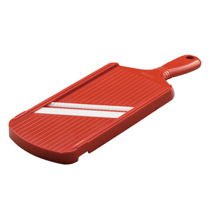 Julienne Slicer, red, plastic/ceramic, dimensions: 27.7 x 9.2 x 1.6 cm