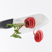 Load image into Gallery viewer, Cut & Peel Set BK : Santoku Knife & Horizontal Peeler, plastic/ceramic, blade length: 14 cm