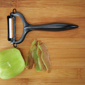 Cut & Peel Set BK : Santoku Knife & Horizontal Peeler, plastic/ceramic, blade length: 14 cm