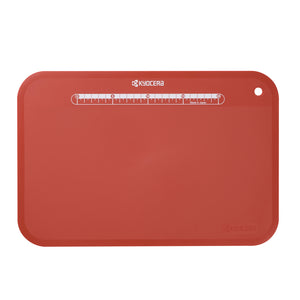 Cutting Board, red, flexible, plastic, dimensions: 37 x 25cm