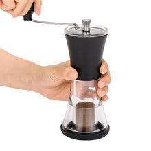 Load image into Gallery viewer, Ceramic Slim Coffee Grinder, with crank, acrylic/ceramic, dimensions: 8.2 x 16 x 21.9 cm