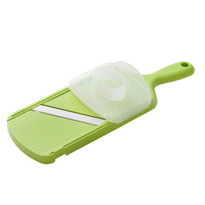 Mandoline Slicer, adjustable, green, plastic/ceramic, dimensions: 27.7 x 9.2 x 1.6 cm