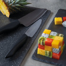 Load image into Gallery viewer, SHIN gift set, Chef's Santoku Knife & Utility Knife, plastic/ceramic, blade length: 16 and 11 cm