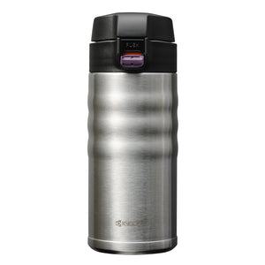 FLIP TOP - Travel Mug, stainless steel (350 ml), stainless steel/ceramic, height: 17.5 cm
