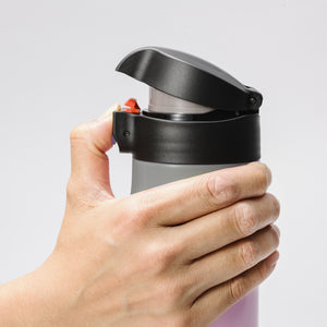 FLIP TOP - Travel Mug, black (500 ml), stainless steel/ceramic, height: 22.5 cm