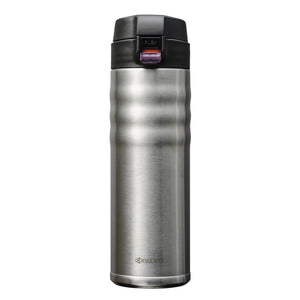 FLIP TOP - Travel Mug, stainless steel (500 ml), stainless steel/ceramic, height: 22.5 cm