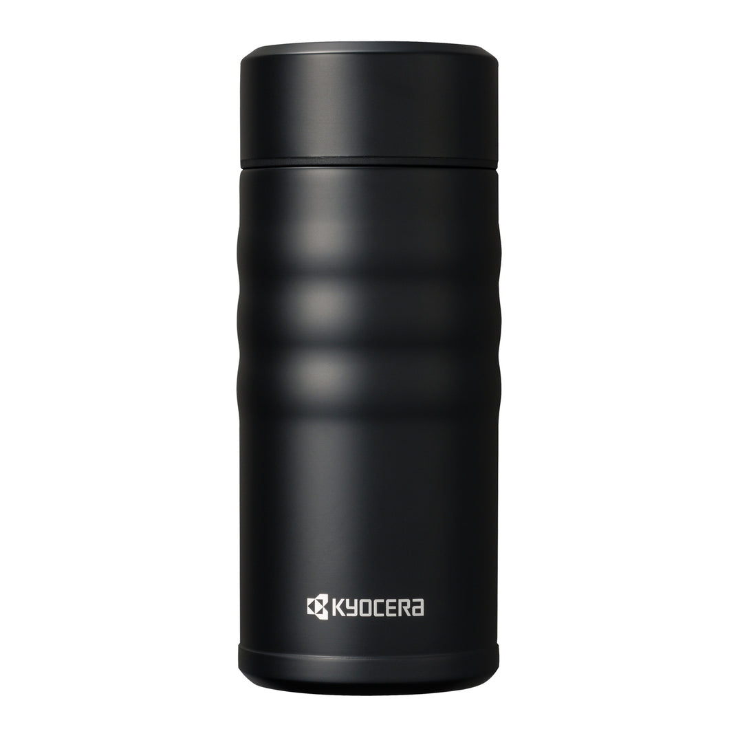 TWIST TOP - Travel Mug, black (350 ml), stainless steel/ceramic, height: 16.5 cm