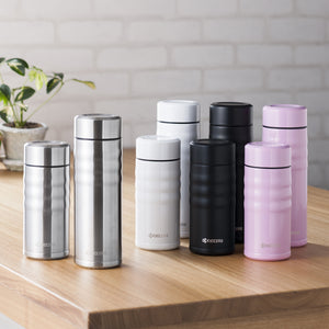 TWIST TOP - Travel Mug, pearlwhite (350 ml), stainless steel/ceramic, height: 16.5 cm