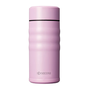 TWIST TOP - Travel Mug, pink (350 ml), stainless steel/ceramic, height: 16.5 cm