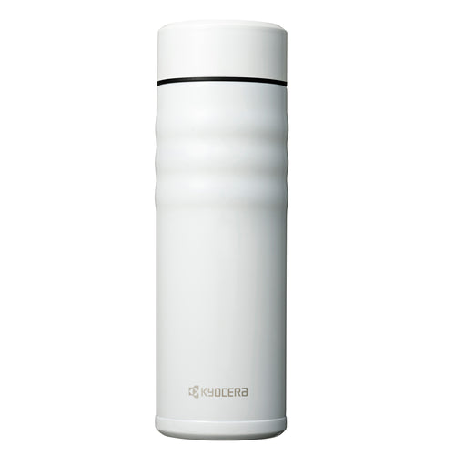 TWIST TOP - Travel Mug, pearlwhite (500 ml), stainless steel/ceramic, height: 21 cm