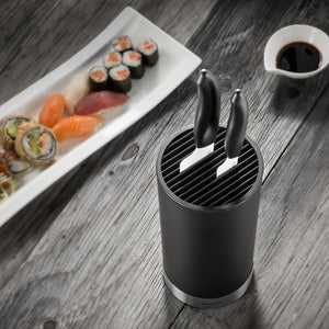 Soft-Touch Knife Block, for up to 8 knives, plastic, dimensions: 11 x 11 x 24.5 cm