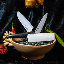 Load image into Gallery viewer, GEN Chef's Santoku Knife, plastic/ceramic, blade length: 16 cm