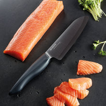 Load image into Gallery viewer, SHIN Chef's Santoku Knife, plastic/ceramic, blade length: 16 cm