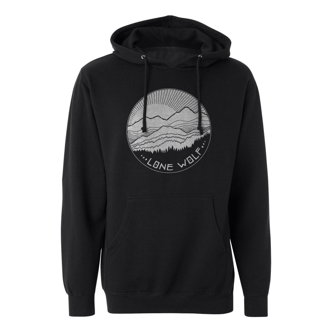 Lone Wolf Mountains Hoodie